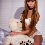 Фотосессия в нижнем белье с мишкой