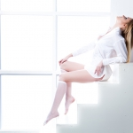 Фотосессия в белой рубашке