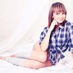 Фотосессия на кровати с балдахином